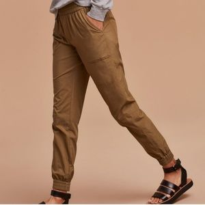 Aritzia Community Ion Pant in aged gold mustard